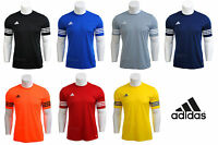 Mens / Boys Adidas Climalite Crew Training Gym Football T Shirt Top S M L XL XXL