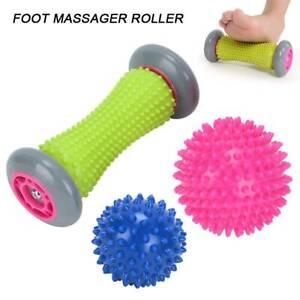 Igelball Massageball Noppenball Gymnastikball mit Fußmassageroller Fußmassage