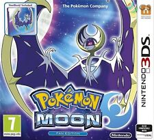 Pokemon Moon SteelBook Fan Edition & Quick Ball DLC 2DS & 3DS * NEW SEALED * emc