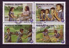 Marshall Inseln Michelnummer 101 - 104  gestempelt
