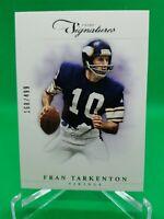 2012 Prime Signatures #153 Fran Tarkenton #'d /499 HOF Minnesota Vikings