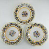 "Vintage Meridiana Ceramiche Set Of 3 Salad Plates 8"" Diameter"