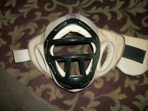 PRO FORCE SPARING HEAD GEAR Martial Arts HEAD PROTECTION WHITE ADULT MEDIUM
