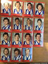 1982 SCANLENS LEAGUE FOOTBALL CARDS NORTH MELBOURNE FOOTBALL CLUB TEAM SET