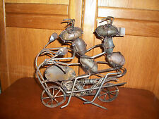 Rock Ant Yard Art Decorations Large Piece 2 Ants On Motorcycle Flying A Flag