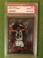 MARCUS CAMBY JERSEY #21 ROOKIE CARD PSA PRIZM RC 1996 Topps Finest #82 PSA NM-MT