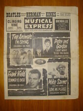 NME #922 1964 SEP 11 BEATLES HERMAN'S HERMITS KINKS