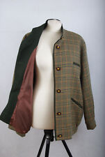 P759/64 Avoca vintage (1968) Irish pure laine vierge vert tartan veste, taille M