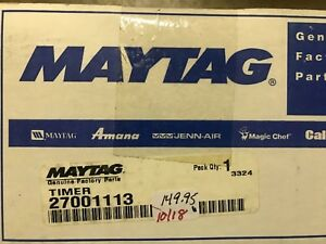 MAYTAG WASHER TIMER 27001113 FREE SHIPPING