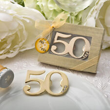 1 50th 50 Gold Bottle Opener Favor Anniversary Birthday Gift Party Big Fifty