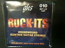 GHS Rock-Its Roundwound 010 Light Elect Guitar Strings .  FREE Shipping