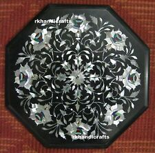 12'' Marble Coffee Table Top Beautiful Mother Of Pearl Inlay Cottage Handicrafts