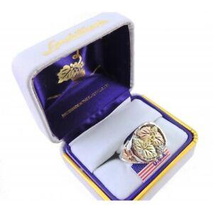 Landstrom's® Men's Sterling Silver Black Hills Gold Ring Size 13