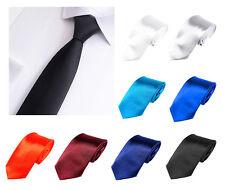 Herren Krawatte Hochzeit Konfirmation Anzug Smoking Schleife Schlips einfarbig