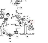 Moyeu de Roue Avant Roulement Avec Anneau ABS Pour Audi A3 Tt VW Golf Bora Neuf