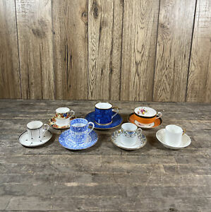 Collection Of Vintage Cabinet Cups & Saucers To Include Aynsley & Cauldon.