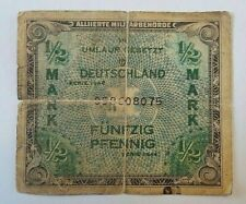 Billet, Allemagne, 1/2 Mark, 1944, KM:191a, TB Germany American Occupation