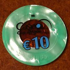 PLAQUE jeton  de 10 EUROS  CASINO  DU CAP d'AGDE  (34 ) HERAULT  FRANCE