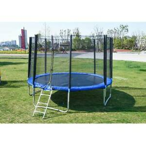 PP 10FT Trampoline Kids Adults with Enclosure Net Indoor Outdoor Trampoline A