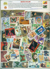Bhutan 50 Different Large - STAMP PACKET