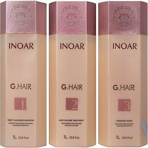 INOAR PROFESSIONAL - G-Hair Keratin Smoothing System with Deep Cleansing Shampoo