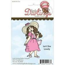 Little Darlings Rubber Stamps ISN'T SHE LOVELY 1 Piece