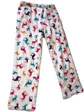 Reno Fluffy Pijama Pantalones Blanco Talla 8