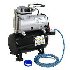 New Airbrush Compressor with w/ 3L Tank Regulator 1/5HP Tattoo Piston Fliter