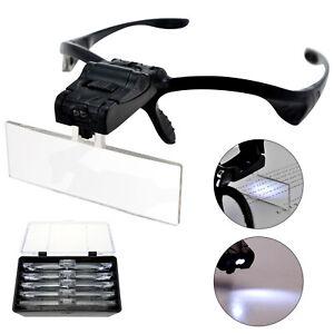 Led Head headband magnifier hands-free Lights Head Magnifying Glasses UK