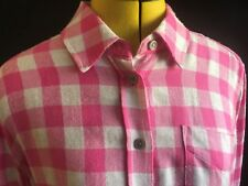 BNWT Joules Laurel Soft Longline Jersey Viscose Shirt in Pink Check UK12 EU40