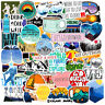 50Pcs Hiking Adventure Outdoors Stickers Vinyl Laptop Luggage Skateboard Decals