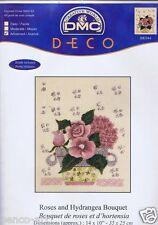 DMC Deco punto de cruz hilo kit Rosas y Hortensia Ramo 35.6x25.4cm 35x25cm