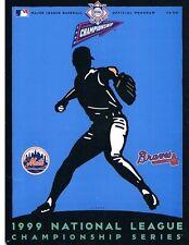 1999 NLCS Program. Braves vs. Mets.