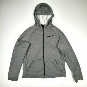 Nike Dri-Fit Boys Full Zip Hoodie Size XL Gray Polyester