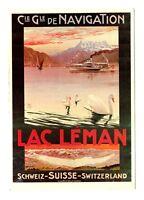 CPSM Suisse Lémanique Lac Léman Cie de Navigation Illustration