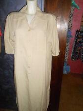 abito vestito  OREPICCOLE  tg.48/XL  col. avana   in viscosa/lino