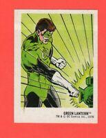 1978  30  Green Lantern  DC Super Hero Stickers Food Issue No Logo Rare