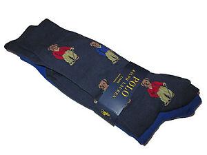 Polo Ralph Lauren Navy Blue Polo Bear Golf Dress Socks 2 Pack