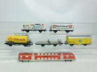 BK250-1# 5x Märklin H0/AC Güterwagen: Shell+Bananas DB+Birthday etc, 2. Wahl