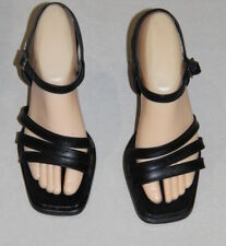 Womens size 7 black small heeled shoes made by KUMFs