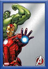 Marvel - Iron Man und Hulk - bedruckter Bar-Spiegel im Kunststoff Rahmen 20x30