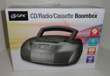 GPX CD/Radio/Cassette Boombox BCA206S