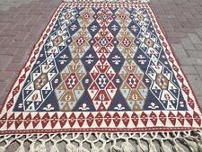 """Anatolian Kilim Vintage Tribal Rug 4x6 Floor Turkish Carpet 45,6""""x73,2"""" Area Rug"""