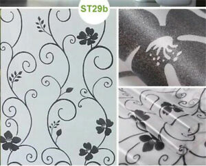 45cm x 2m Floral Privacy Frosted Frosting Removable Glass Sticker Window Film