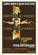 James Bond: * Goldfinger *  Sean Connery USA Movie Poster 1964