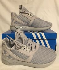 Adidas Tubular Runner Weave  Silver Grey Trainers UK Size 4 US 4.5 BNIB B25533