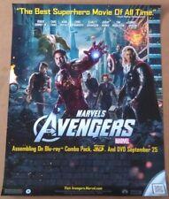 THE AVENGERS DVD MOVIE POSTER 1 Sided ORIGINAL MINI 22x28 ROBERT DOWNEY JR.