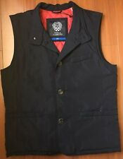 VINCE CAMUTO MEN'S QUILTED OUTERWEAR NAVY VEST SIZE SMALL S BLUE MSRP $175