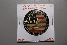 Challenge Coin US Air Force Airfest Lackland AFB 2002 Gateway to Air Force 56