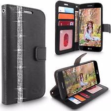 Bling Diamond Wallet Case Flip Stand Cover For LG X Venture/ LG X Calibur/ LG V9